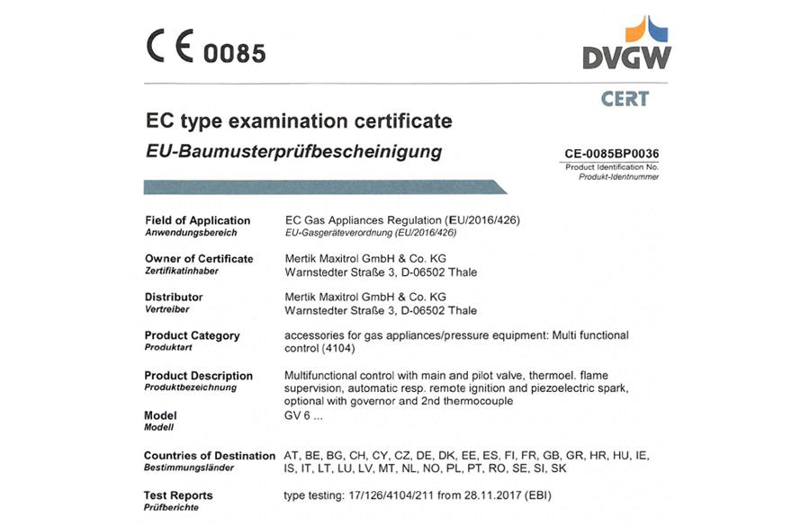 New GAR certificate